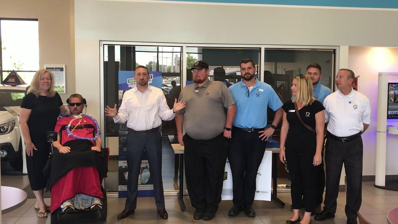 Subaru Share The Love Check Presentation to the ALS Therapy Development  Institute