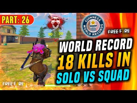 Famas Master Try To Make World Record 18 Kills In Solo Vs Squad - Garena Free Fire