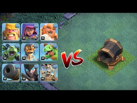 ALLE TRUPPEN vs RIESENKANONE! || Clash of Clans || Let's Play CoC [Deutsch German]
