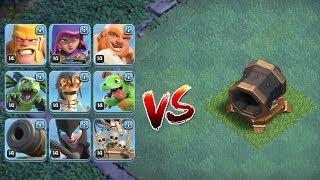 ALLE TRUPPEN vs RIESENKANONE! || Clash of Clans || Let