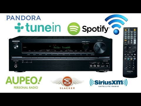 How To Connect Spotify-Pandora-SiriusXM-Internet Radio-Slacker-AUPEO!-TuneIn On Onkyo TX-NR535