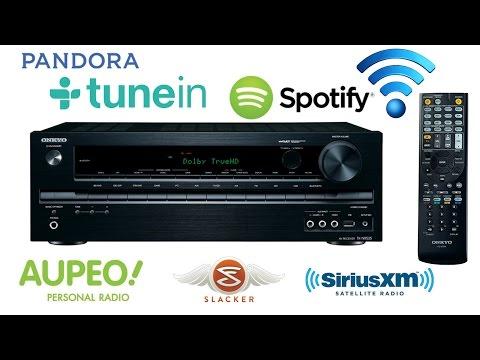 How to connect Spotify-Pandora-SiriusXM-Internet Radio-Slacker-AUPEO!-TuneIn on Onkyo TX-NR535