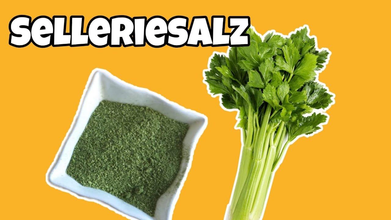 Selleriesalz ganz natürlich selber machen - ohne Salz!