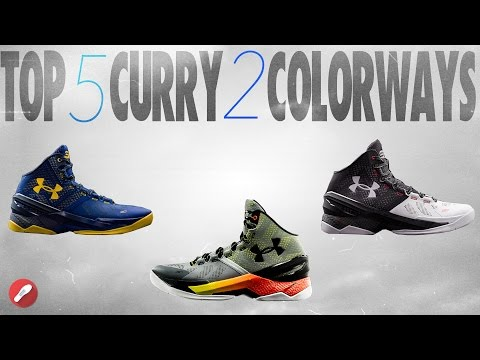 Top 5 Curry 2 Colorways! Underarmour