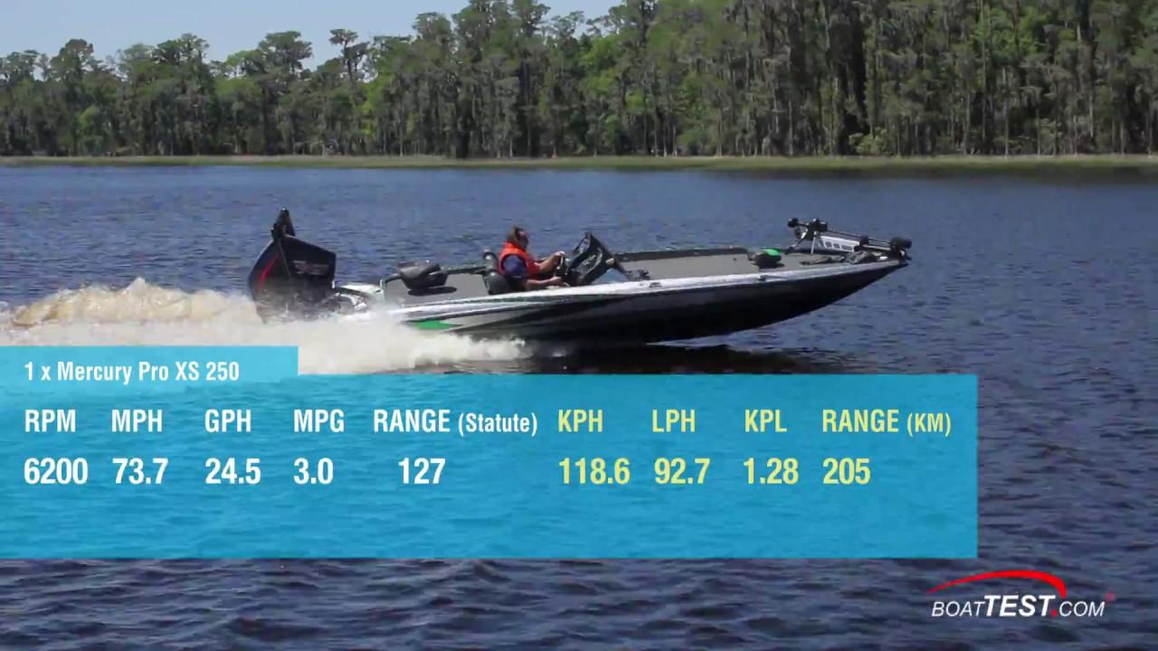 Mercury 4 6L V-8 Pro XS Series (2018-) Test Video - By BoatTEST com by  BoatTEST com
