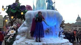 La Magie Disney En Parade Disneyland Paris(Parade Disneyland Paris avec la reine des glaces et tout les personnages disney février 2014 Parade Disneyland Paris with frozen and all the characters of ..., 2014-02-10T16:21:45.000Z)