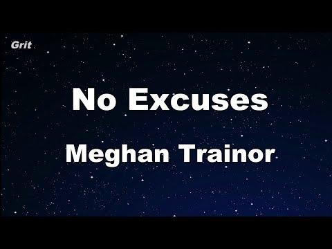 No Excuses - Meghan Trainor Karaoke 【No Guide Melody】 Instrumental