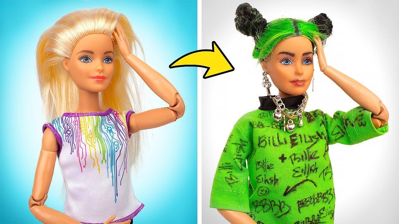Transformación de Barbie | DIY Muñeca Billie Eilish