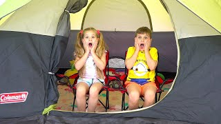 Download Mp3 Diana and Roma 24 Hours Overnight In A Tent Challenge