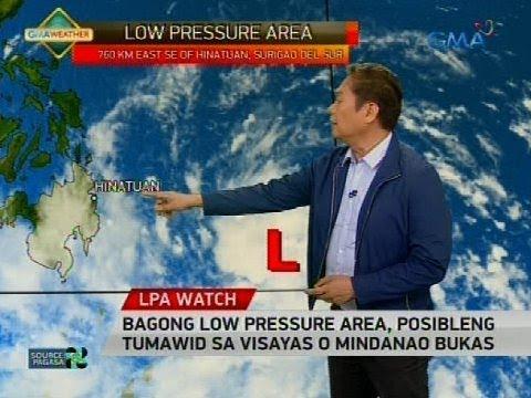 24 Oras: Bagong low pressure area, posibleng tumawid sa Visayas o Mindanao bukas