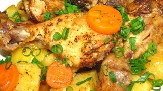 Вкусно КУРИНЫЕ НОЖКИ с Картошкой в Рукаве КУРИЦА Запеченная в Духовке РЕЦЕПТ