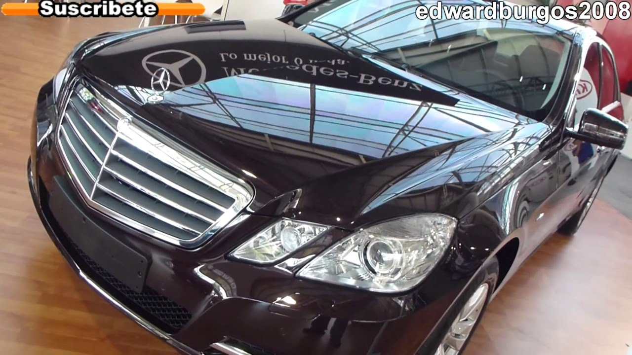 mercedes benz e 220 cdi 2012 colombia video de carros auto show