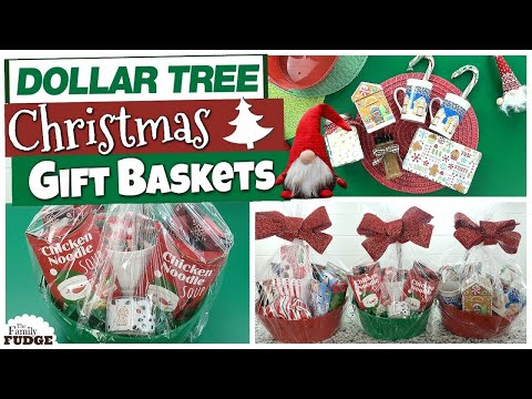 DOLLAR TREE Christmas Gift Basket Ideas | BEST TIPS + Budget Friendly