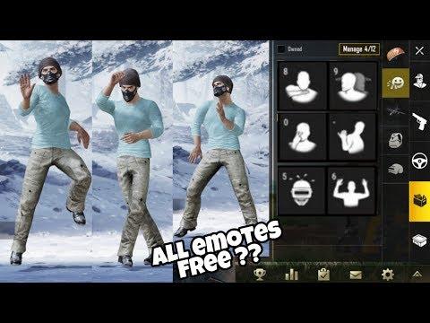 Pubg All  Emotes Unlock Trick