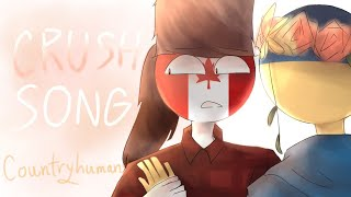 The Crush Song|Animatic|Countryhumans  Canada , Ukriane