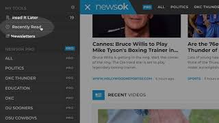 Recently Read  – NewsOK Pro Tutorial (0:27)