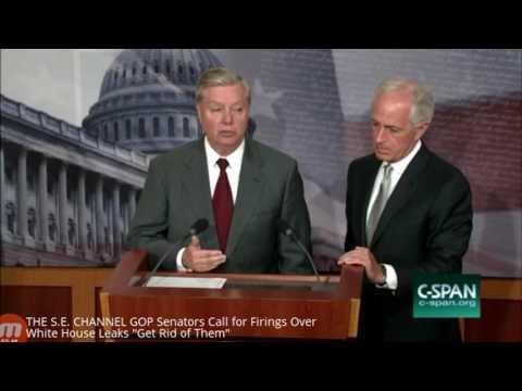 """Senators Call for Firings Over White House Leaks """"Get Rid of Them"""""""