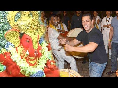 Salman Khan Ganpati Aagman 2016 & Visarjan 2015