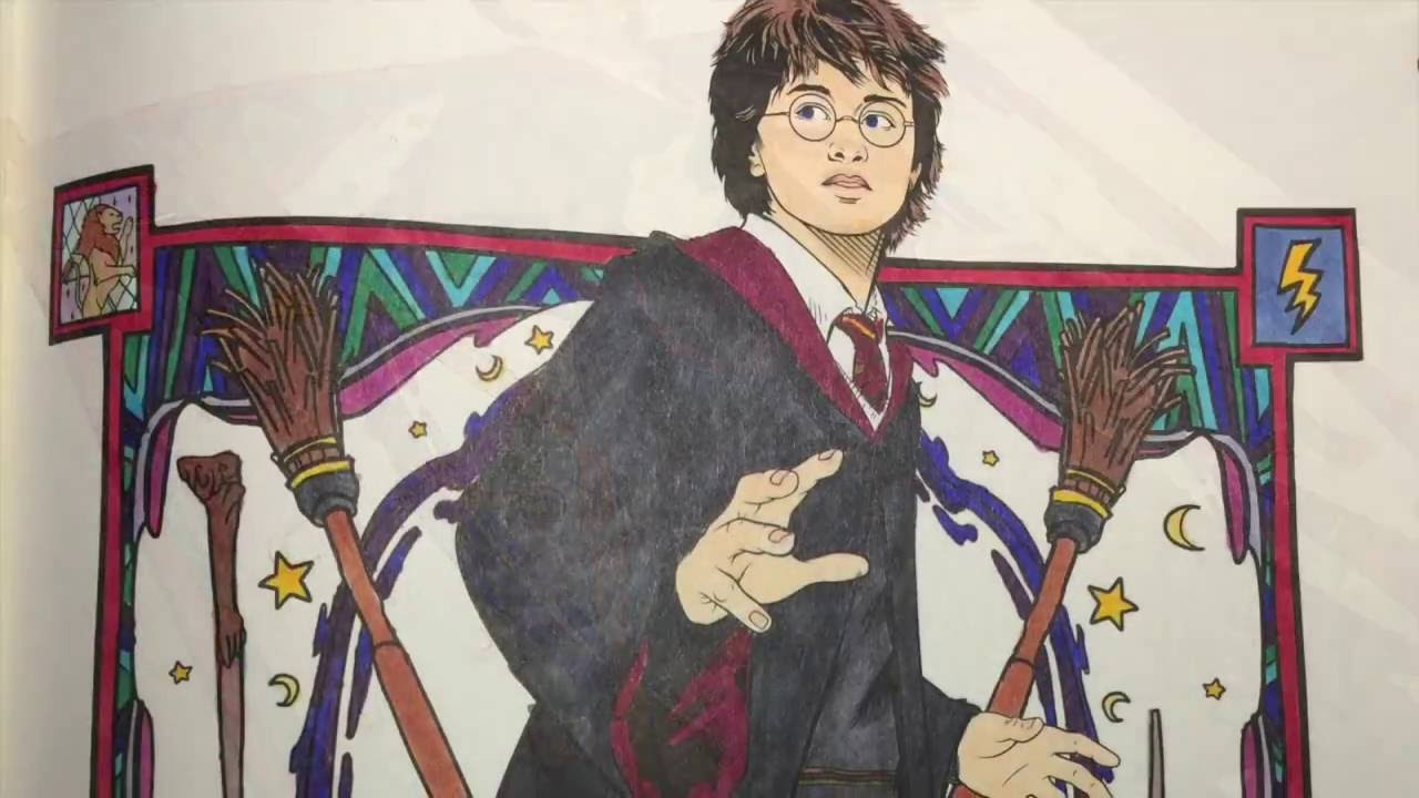 Harry Potter Book July ~ Harry potter coloring book july youtube