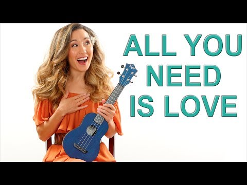 All You Need is Love - The Beatles - Ukulele Tutorial with Fingerpicking and Play Along