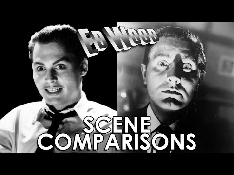 Johnny Depp and Edward D. Wood Jr. | Ed Wood (1994) - scene comparisons