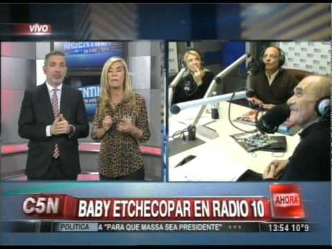 C5N - ARGENTINA EN VIVO: DUPLEX CON BABY ETCHECOPAR EN RADIO 10