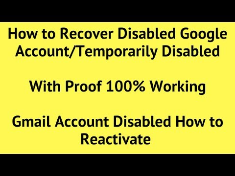 My Google Account is Disabled What Do I Do | Disabled Google Account Recovery | Gmail, YouTube
