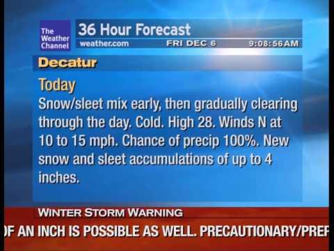 WeatherStar XL v3 Emulator: Significant Winter Storm in Decatur, TX