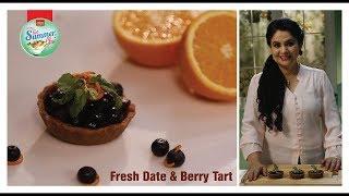 Fresh Date & Berry Tart #GetSummerGlow