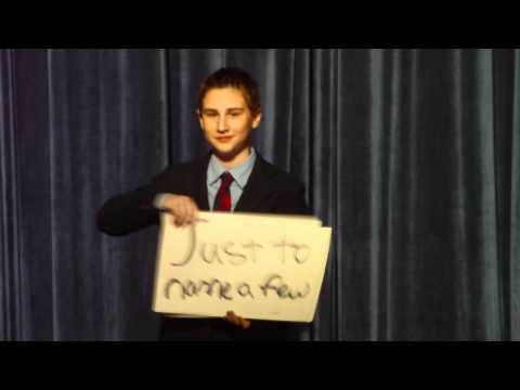Best Middle School Election Speech Ever, Zach Oschin