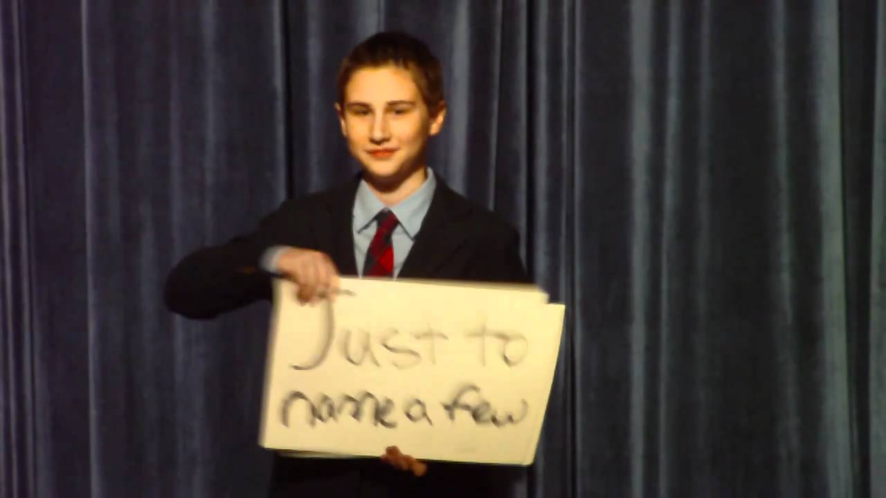 Best Middle School Election Speech Ever, Zach Oschin