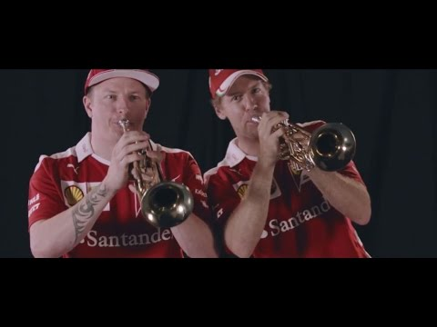 F1 2016 Mexico GP - Sebastian Vettel and Kimi Raikkonen learn how to play the trumpet!