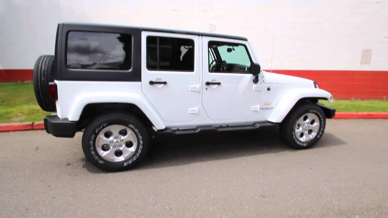 2014 Jeep Wrangler Unlimited Sahara White El274610