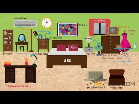 Bedroom Furniture: Learn Things In The Bedroom With Pictures | Bedroom Vocabulary