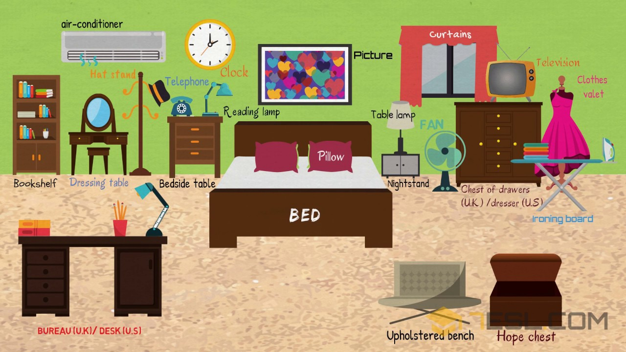 Bedroom Furniture Learn Things In The Bedroom With