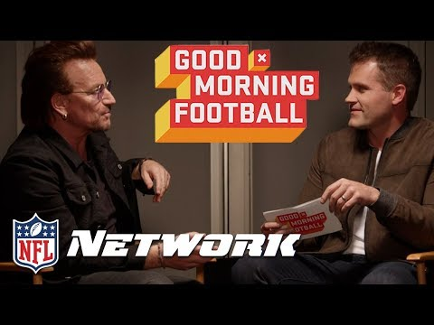 """Bono on his Position in U2, """"I'd say I'm the kicker""""   Good Morning Football   NFL Network"""