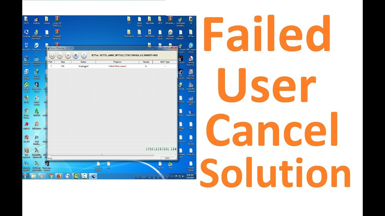 SPD Flash Tool Failed User Cancel Solution l Failed User Cancel Fix l  Failed User Cancel problm