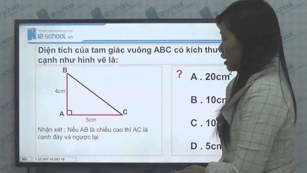 [Toán tiểu học][Toán 5, Toán lớp 5]- Cách tính Diện tích hình tam giác — [Lika-K12school]