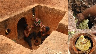 Most unbelievable creative ! Building the Underground house and find to bee in the land