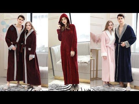 Oksun Fleece Warm Plush Long Robe For Women And Men