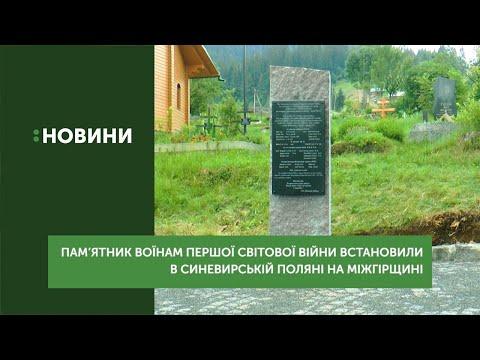 Пам'ятник воїнам Першої світової війни встановили в селі Синевирська Поляна Міжгірського району