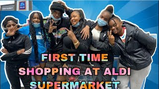 OUR FRIST TIME SHOPPING AT ALDI GROCERY STORE ( walk through)