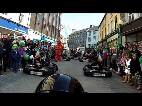 On board Galway City Karting through  the St  Patricks day 2015