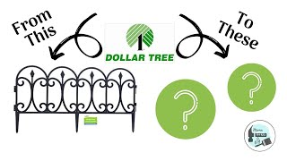 Dollar Tree Garden Fence Makeover | Two DIY's