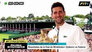 Wimbledon 2019 - ATP: Final entre Novak Djokovic vs Roger Federer | Tenis Internacional