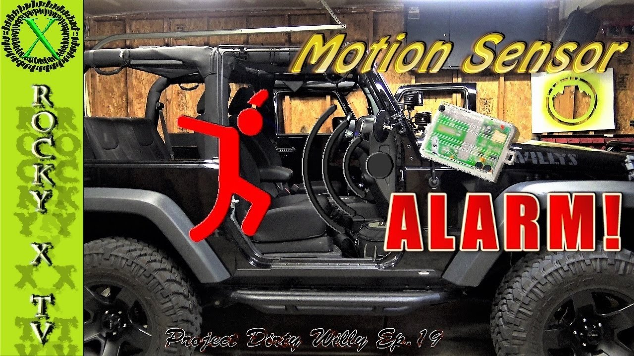 Jeep Alarm Wiring Diagram Detailed How To Add A Motion Proximity Sensor Factory Jk Project