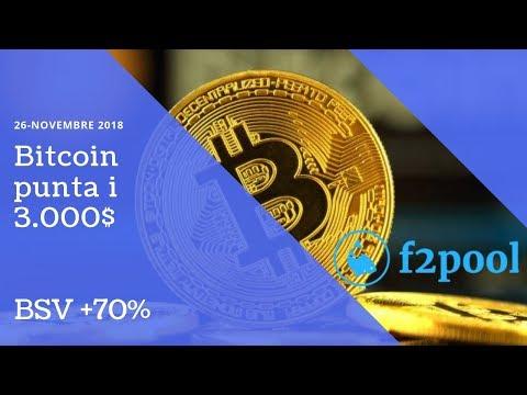 Bitcoin punta i 3 000$  BSV +70%! TG Crypto
