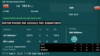 Canterbury Kings vs Central Stags Live | Mens Super Smash T20 Cup CD vs CTB Live Hindi Commentary