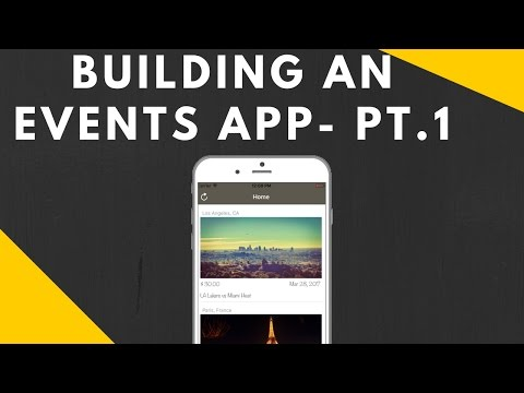 BUILDING AN EVENTS APP PART 1 || SETTING UP OUR UI AND PROJE