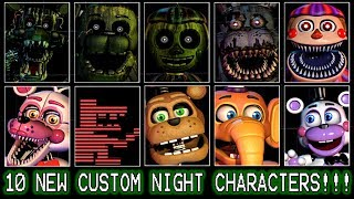 FOXY, BB AND THE PUPPET REACT TO: 10 New Custom Night Characters!    NOW WE HAVE 50 ANIMATRONICS!!!